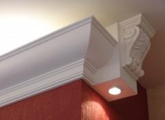 Потолочный плинтус с подсветкой для натяжных потолков