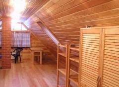 Потолок на мансарде — варианты отделки