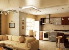 Особенности и варианты материалов для создания двухуровневых потолков в кухне-гостиной