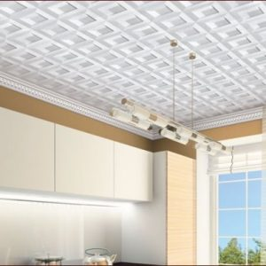 Плитка на потолок без швов — как клеить?