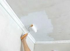 Потолок в панельном доме — как его покрасить?
