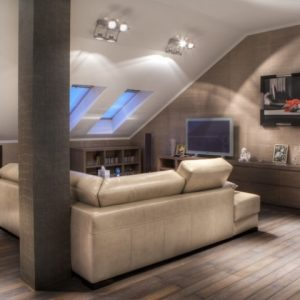 Какие выбрать светильники для наклонных потолков