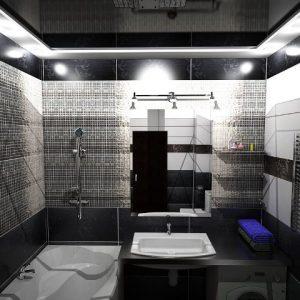 Преимущества и примеры применения черных натяжных потолков в ванной