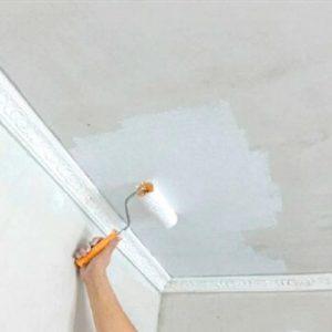 Как красить потолок, чтобы не капала краска?
