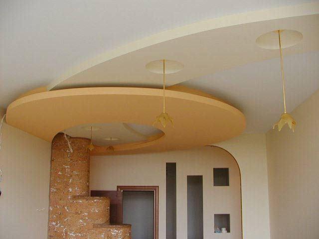 Как сделать на потолке узоры из гипсокартона