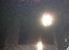 Виды и применение черных натяжных потолков с блестками