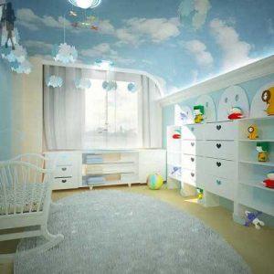 Потолок голубое небо — варианты изготовления и применение