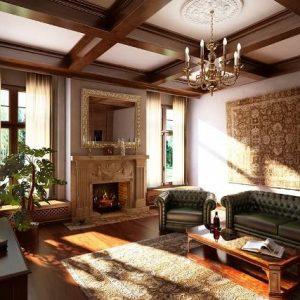 Особенности оформления потолков в английском стиле