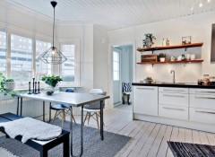 Особенности и виды потолков в скандинавском стиле