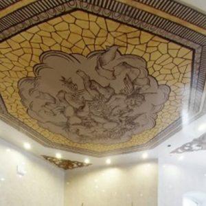 Преимущества и внешний вид натяжного потолка — мозаики