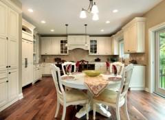 Как расположить светильники на натяжном потолке на кухне?