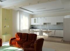 Какой сделать потолок в кухне-столовой?