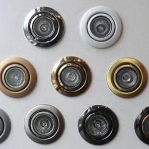 Конструкция и особенности точечных штампованных светильников