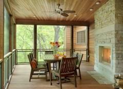 Потолок на веранде — чем лучше подшить?