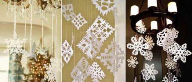 Как украсить потолок на Новый год
