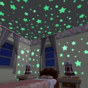 Светящиеся в темноте звезды на натяжном потолке — варианты создания