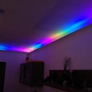 Какие карнизы используются для подсветки потолка?