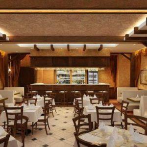 Популярные варианты потолков для ресторанов