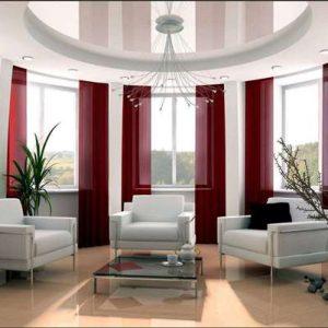 Варианты оформления потолка в комнате с эркером