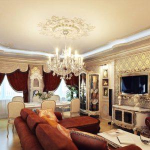 Особенности оформления потолков в стиле ампир