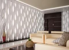 Особенности и преимущества световых гипсовых 3d панелей