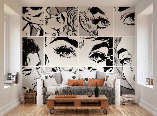 фото рисунки на стенах