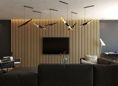 Использование реек для декора стен