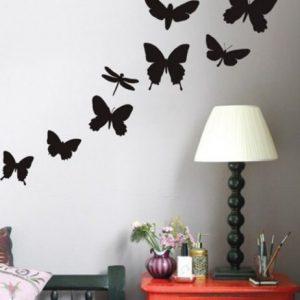 Использование в интерьере декоративных наклеек на стену