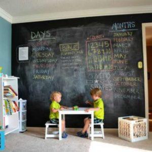 Особенности и применение грифельного покрытия для стен