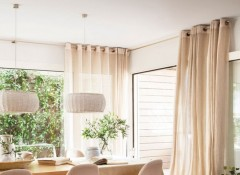 Как выбрать шторы для невысоких потолков
