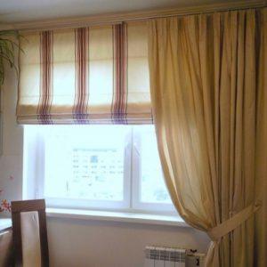 Особенности выбора штор на кухню с низкими потолками