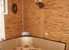 Использование в интерьере кухни бамбуковых обоев