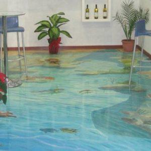 Особенности, недостатки и примеры декоративных наливных полов