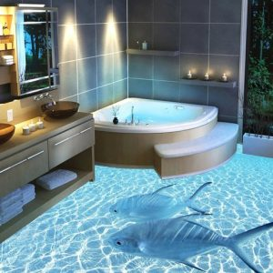 Плюсы, минусы и особенности применения наливных полов в ванной