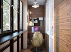 Плюсы, минусы и порядок отделки стен балкона ламинатом