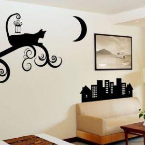 Как выполняются трафаретные рисунки на стенах