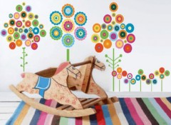 Использование в детской комнате аппликаций на стену