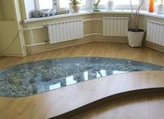 Стеклянный пол — как его сделать?