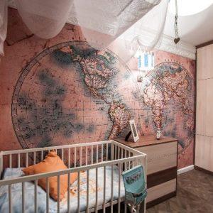 Особенности и виды карт мира на стену в детскую