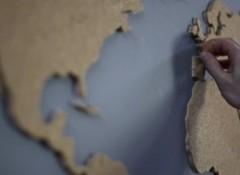 Как своими руками сделать карту мира на стене