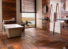 Преимущества, особенности и применение плитки для стен под дерево