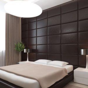 Особенности, преимущества и монтаж кожаных панелей для стен