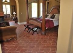 Особенности и тонкости применения терракотовой плитки для пола и стен