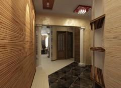 Использование в интерьере прихожей бамбуковых обоев