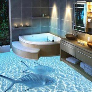 Какой наливной пол для лучше для ванной комнаты?