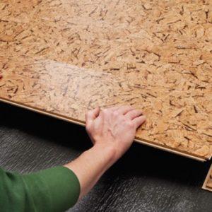 Порядок монтажа на пол пробкового покрытия