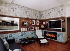 Различные варианты декорирования стен газетами