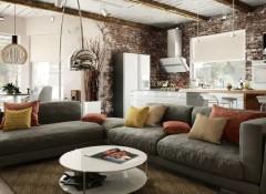 Правила и тонкости оформления гостиной в стиле гранж