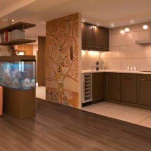 Применение в различных помещениях комбинированных полов из плитки и ламината