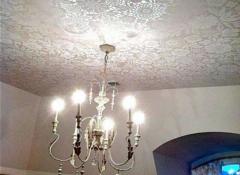 Особенности и примеры кружевных потолков